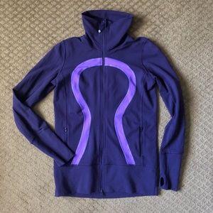 LuLulemon In Stride Zip Up Jacket - Purple size 8